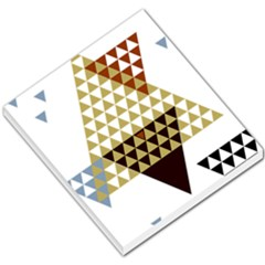 Colorful Modern Geometric Triangles Pattern Small Memo Pads