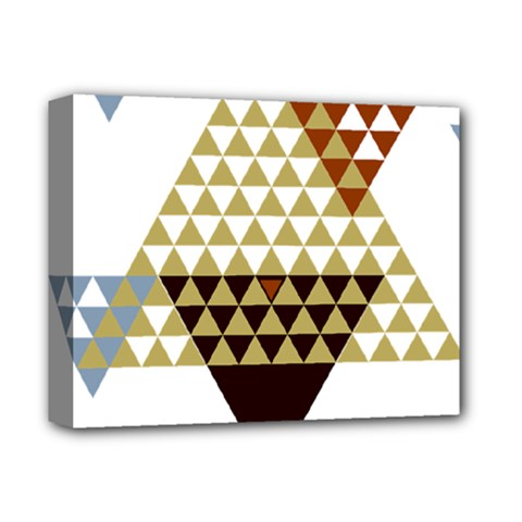 Colorful Modern Geometric Triangles Pattern Deluxe Canvas 14  x 11