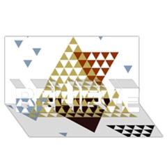 Colorful Modern Geometric Triangles Pattern Believe 3d Greeting Card (8x4)