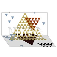 Colorful Modern Geometric Triangles Pattern Hugs 3d Greeting Card (8x4)