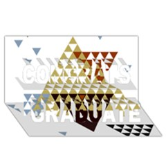 Colorful Modern Geometric Triangles Pattern Congrats Graduate 3d Greeting Card (8x4)