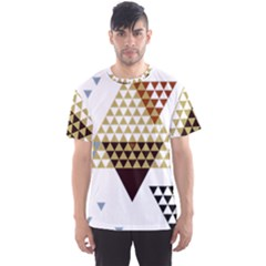 Colorful Modern Geometric Triangles Pattern Men s Sport Mesh Tees