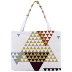 Colorful Modern Geometric Triangles Pattern Tiny Tote Bags