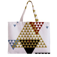 Colorful Modern Geometric Triangles Pattern Zipper Tiny Tote Bags