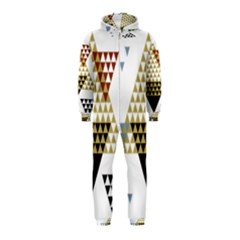 Colorful Modern Geometric Triangles Pattern Hooded Jumpsuit (kids)