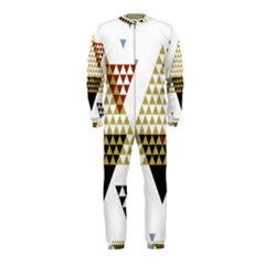 Colorful Modern Geometric Triangles Pattern OnePiece Jumpsuit (Kids)