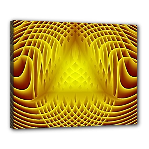 Swirling Dreams Yellow Canvas 20  X 16