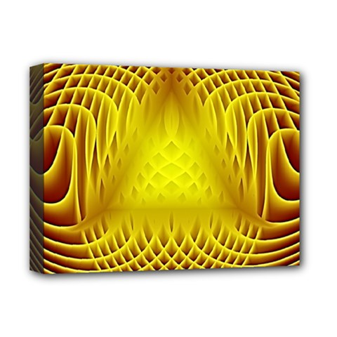 Swirling Dreams Yellow Deluxe Canvas 16  x 12