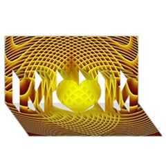 Swirling Dreams Yellow MOM 3D Greeting Card (8x4)