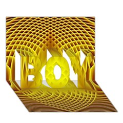 Swirling Dreams Yellow Boy 3d Greeting Card (7x5)