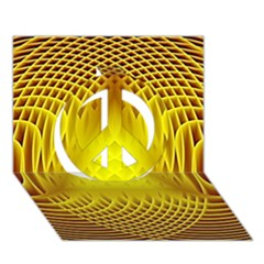 Swirling Dreams Yellow Peace Sign 3D Greeting Card (7x5)