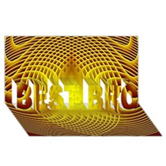 Swirling Dreams Yellow BEST BRO 3D Greeting Card (8x4)