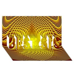 Swirling Dreams Yellow Best Sis 3d Greeting Card (8x4)