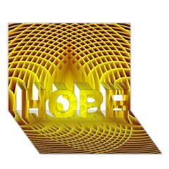 Swirling Dreams Yellow HOPE 3D Greeting Card (7x5)