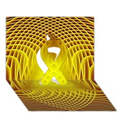 Swirling Dreams Yellow Ribbon 3d Greeting Card (7x5)