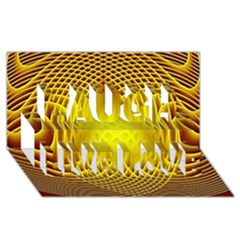 Swirling Dreams Yellow Laugh Live Love 3d Greeting Card (8x4)