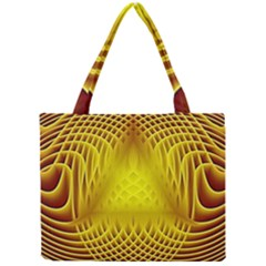 Swirling Dreams Yellow Tiny Tote Bags