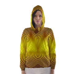 Swirling Dreams Yellow Hooded Wind Breaker (Women)