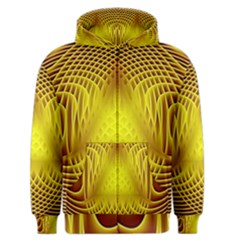 Swirling Dreams Yellow Men s Zipper Hoodies