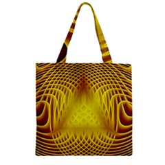 Swirling Dreams Yellow Zipper Grocery Tote Bags