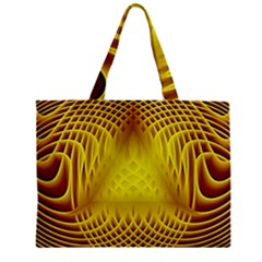 Swirling Dreams Yellow Zipper Tiny Tote Bags