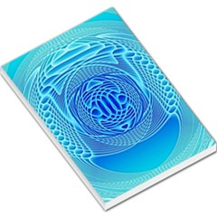 Swirling Dreams, Aqua Large Memo Pads