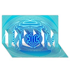 Swirling Dreams, Aqua Mom 3d Greeting Card (8x4)