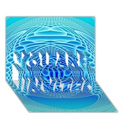 Swirling Dreams, Aqua You Are Invited 3d Greeting Card (7x5)