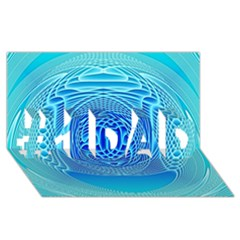 Swirling Dreams, Aqua #1 Dad 3d Greeting Card (8x4)