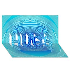 Swirling Dreams, Aqua HUGS 3D Greeting Card (8x4)