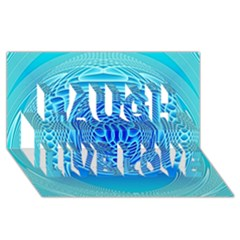 Swirling Dreams, Aqua Laugh Live Love 3d Greeting Card (8x4)