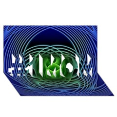 Swirling Dreams, Blue Green #1 MOM 3D Greeting Cards (8x4)