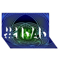 Swirling Dreams, Blue Green #1 DAD 3D Greeting Card (8x4)
