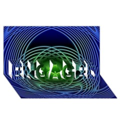 Swirling Dreams, Blue Green ENGAGED 3D Greeting Card (8x4)