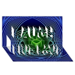 Swirling Dreams, Blue Green Laugh Live Love 3d Greeting Card (8x4)