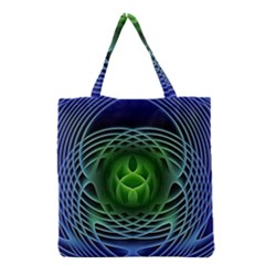 Swirling Dreams, Blue Green Grocery Tote Bags