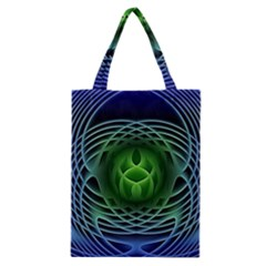 Swirling Dreams, Blue Green Classic Tote Bags