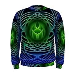 Swirling Dreams, Blue Green Men s Sweatshirts