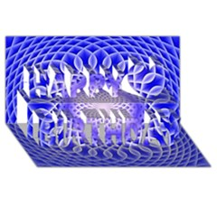 Swirling Dreams, Blue Happy Birthday 3D Greeting Card (8x4)