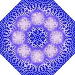 Swirling Dreams, Blue Hook Handle Umbrellas (large)