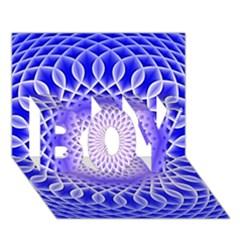 Swirling Dreams, Blue Boy 3d Greeting Card (7x5)