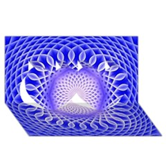 Swirling Dreams, Blue Twin Hearts 3d Greeting Card (8x4)