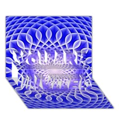 Swirling Dreams, Blue YOU ARE INVITED 3D Greeting Card (7x5)