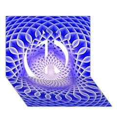 Swirling Dreams, Blue Peace Sign 3D Greeting Card (7x5)