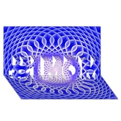 Swirling Dreams, Blue #1 Mom 3d Greeting Cards (8x4)