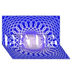Swirling Dreams, Blue BEST BRO 3D Greeting Card (8x4)