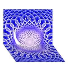 Swirling Dreams, Blue Circle 3d Greeting Card (7x5)