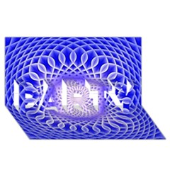 Swirling Dreams, Blue Party 3d Greeting Card (8x4)