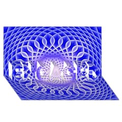 Swirling Dreams, Blue Engaged 3d Greeting Card (8x4)