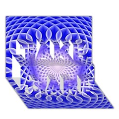 Swirling Dreams, Blue TAKE CARE 3D Greeting Card (7x5)